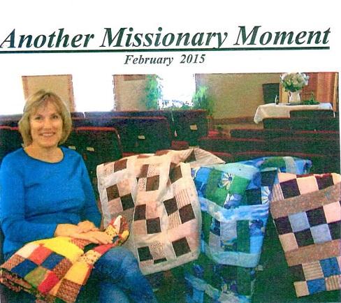 Church ladies quilting